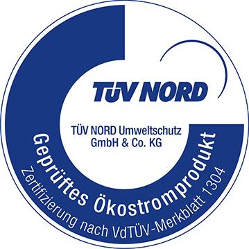 Strom fürs Geschäft: TÜV Nord geprüfter Ökostrom