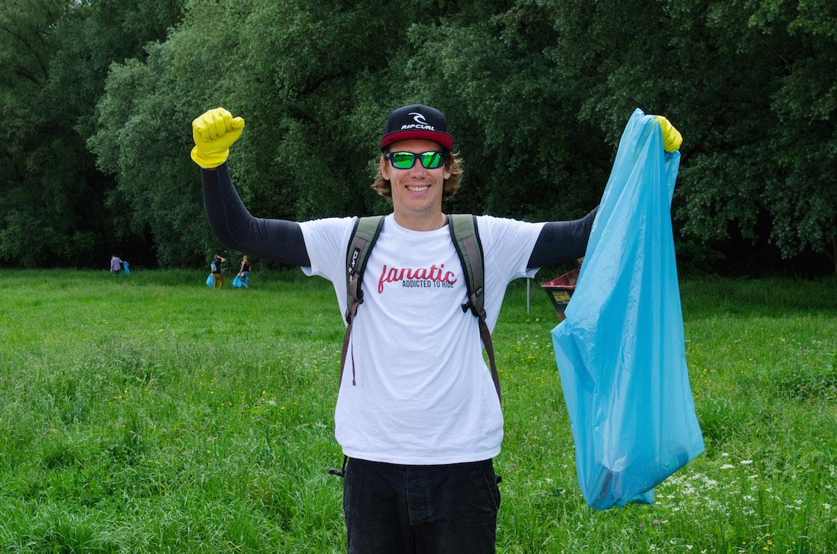 Gutes Training: Müllsammeln macht fit