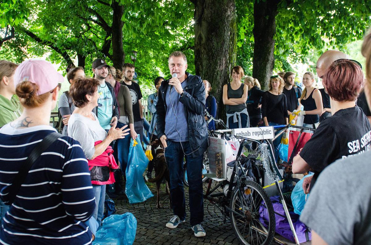 Kulturstrand München beim CleanUp