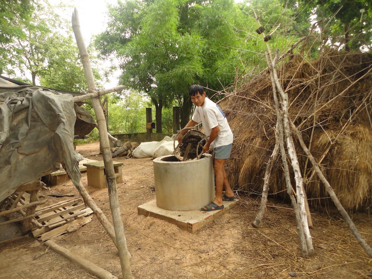Einfülltank der Biogasanlage