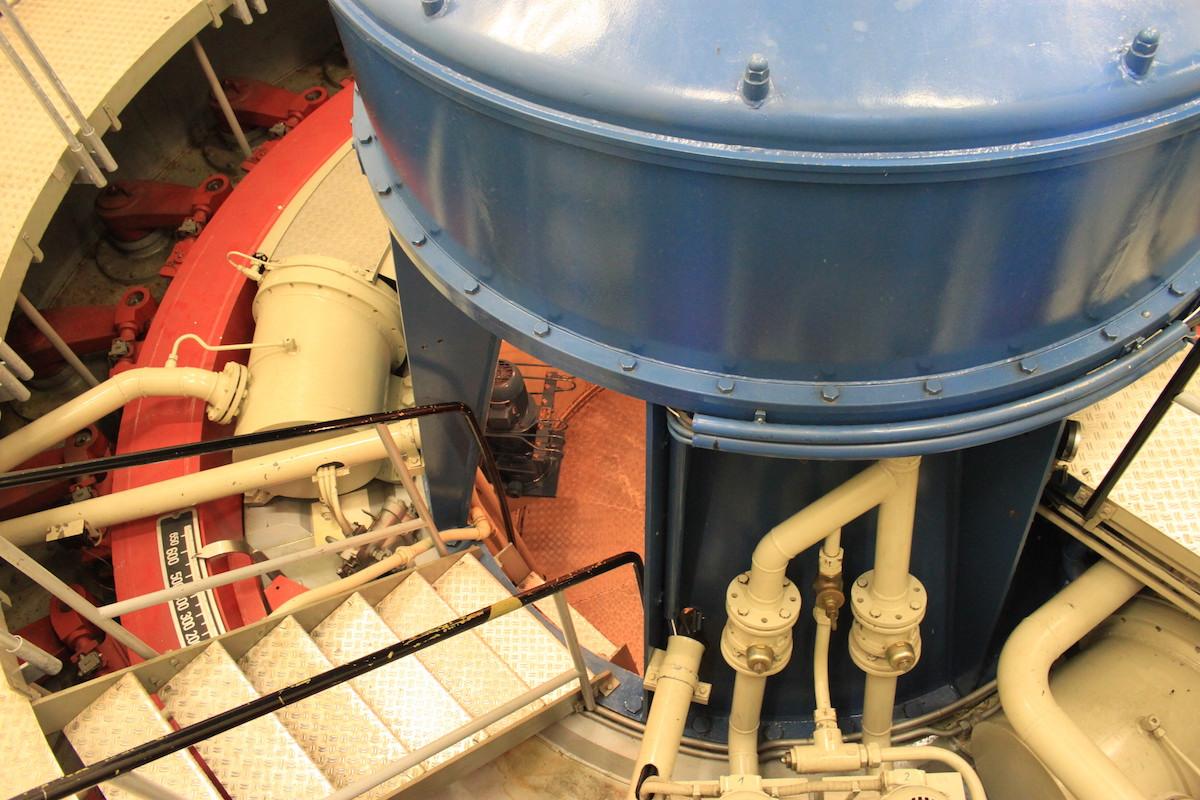 Drei Turbinen des Innkraftwerks - hier kommt Polarstern Ökostrom her