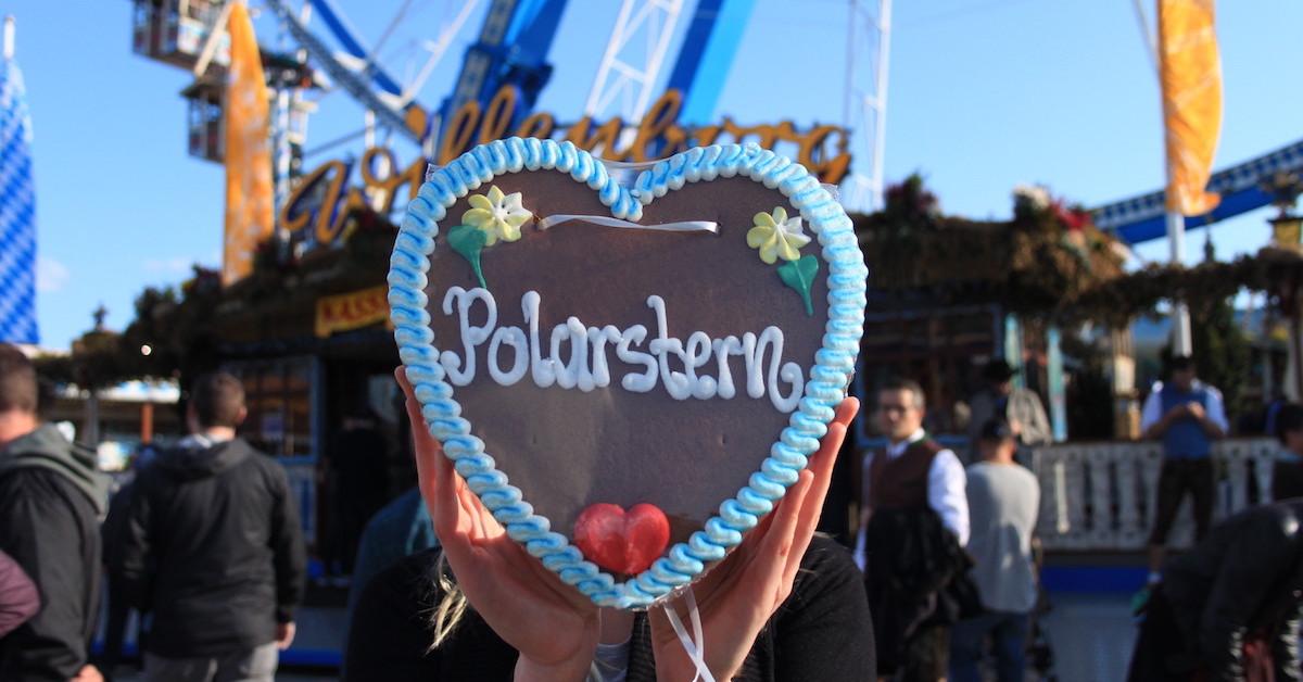 Polarstern ist ÖkotestTestsieger - Darauf ein Lebkuchenherz und eine Runde Riesenrad.