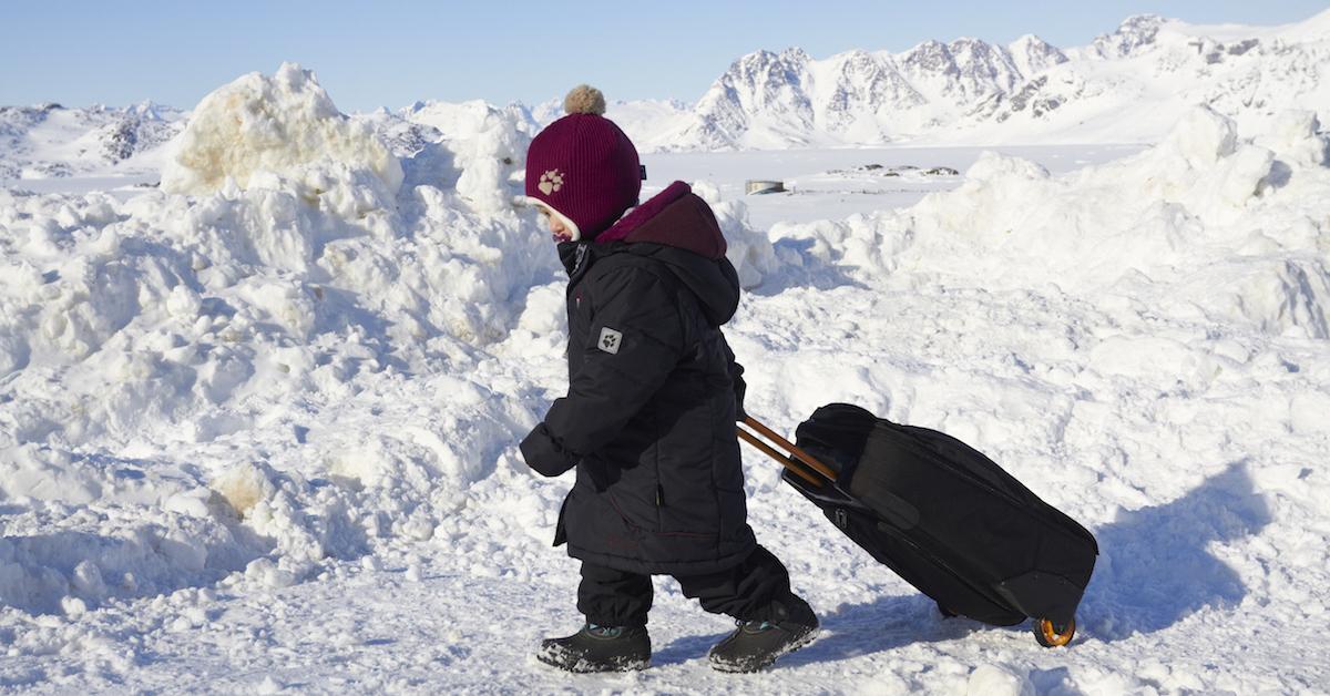 Familie sieht Klimawandel in Grönland