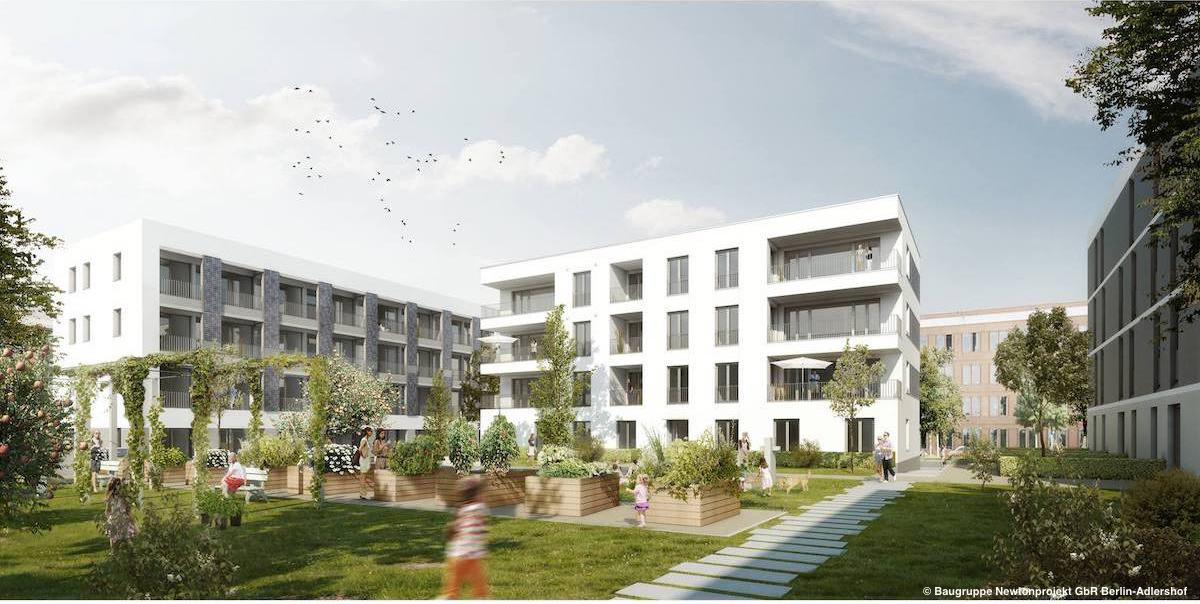 So wohnt man in Zukunft im Newtonprojekt in Berlin-Adlershof.