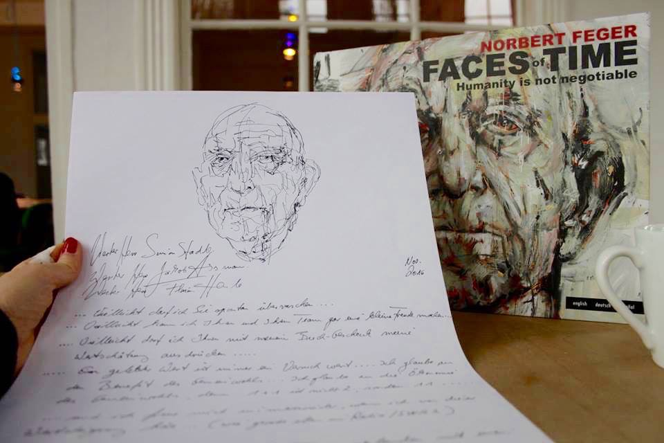 Geschenke von Polarstern-Kunden: Norbert hat uns einen netten Brief geschrieben und seinen neuen Bildband mitgeschickt.