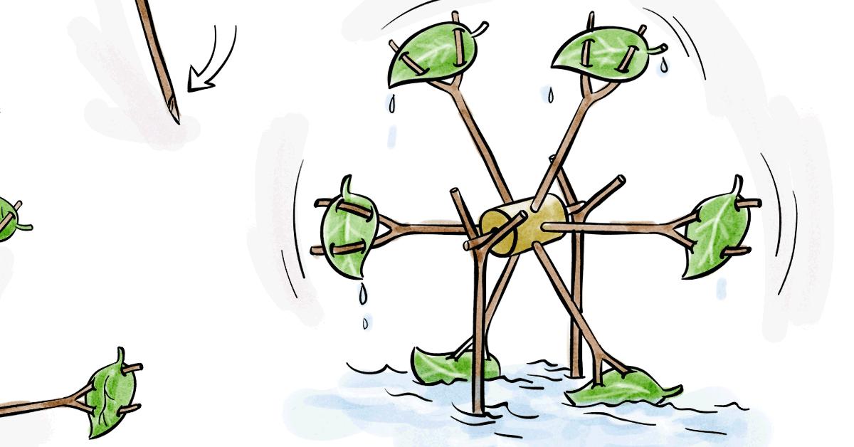 Ökoenergie verstehen: ein Wasserrad basteln | Ökostromanbieter Polarstern