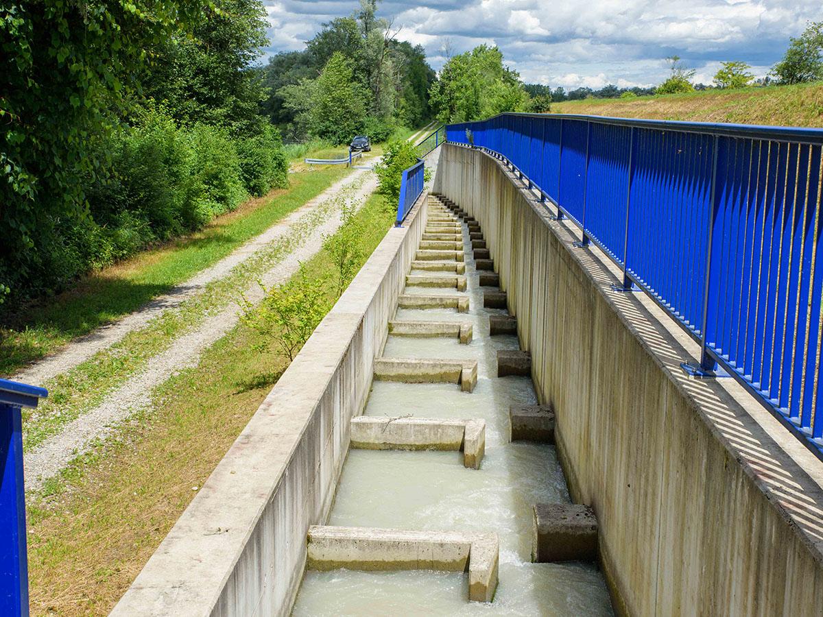 Fischtreppen am Wasserkraftwerk Feldkirchen
