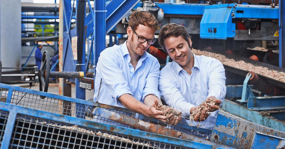 Bioenergie: Biogas aus Biomasse.