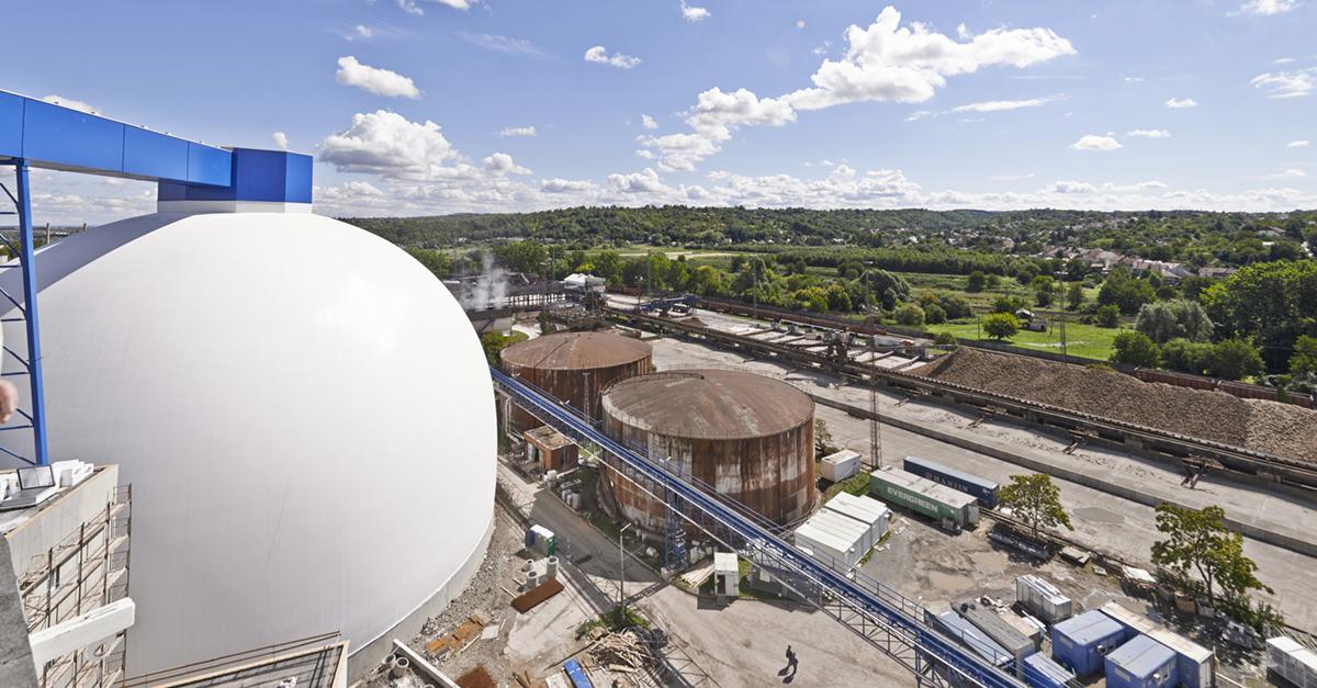 Herstellung von Biogas in der Biogasanlage