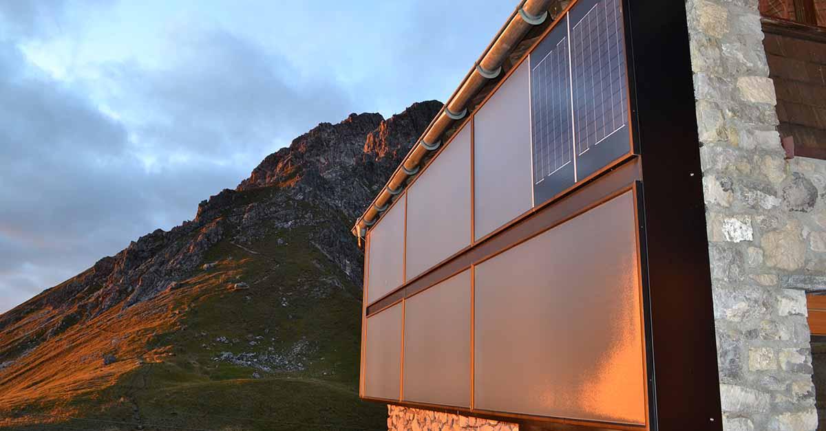 Energieverbrauch: Sonnenuntergang in den Alpen