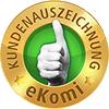 Gold Bewertungen bei eKomi: Polarsternkunden geben 5 Sterne